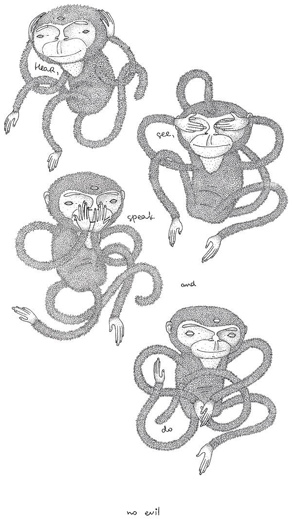 «Не злые» обезьянки